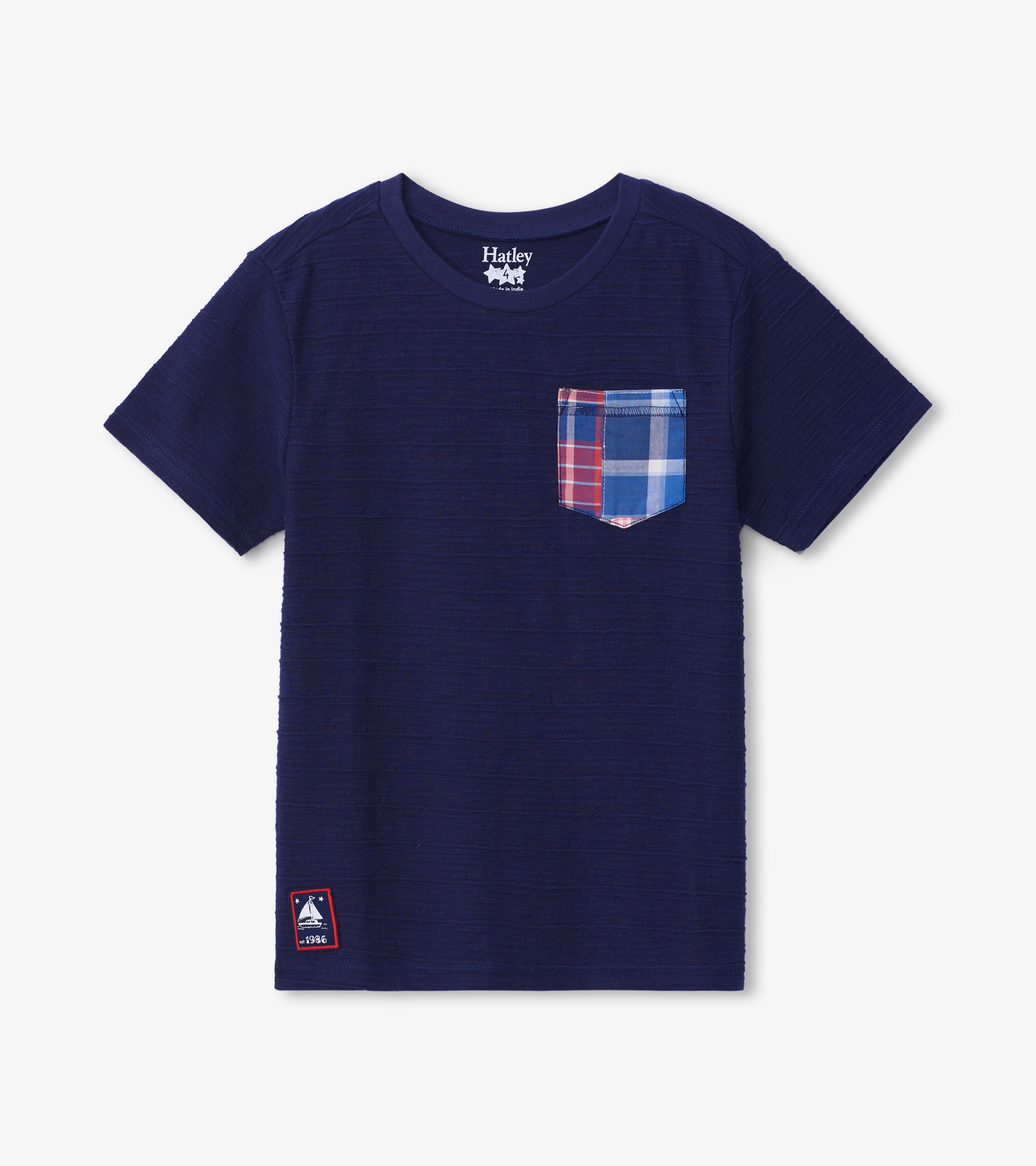Hatley Graphic Front Pocket Tee Navy