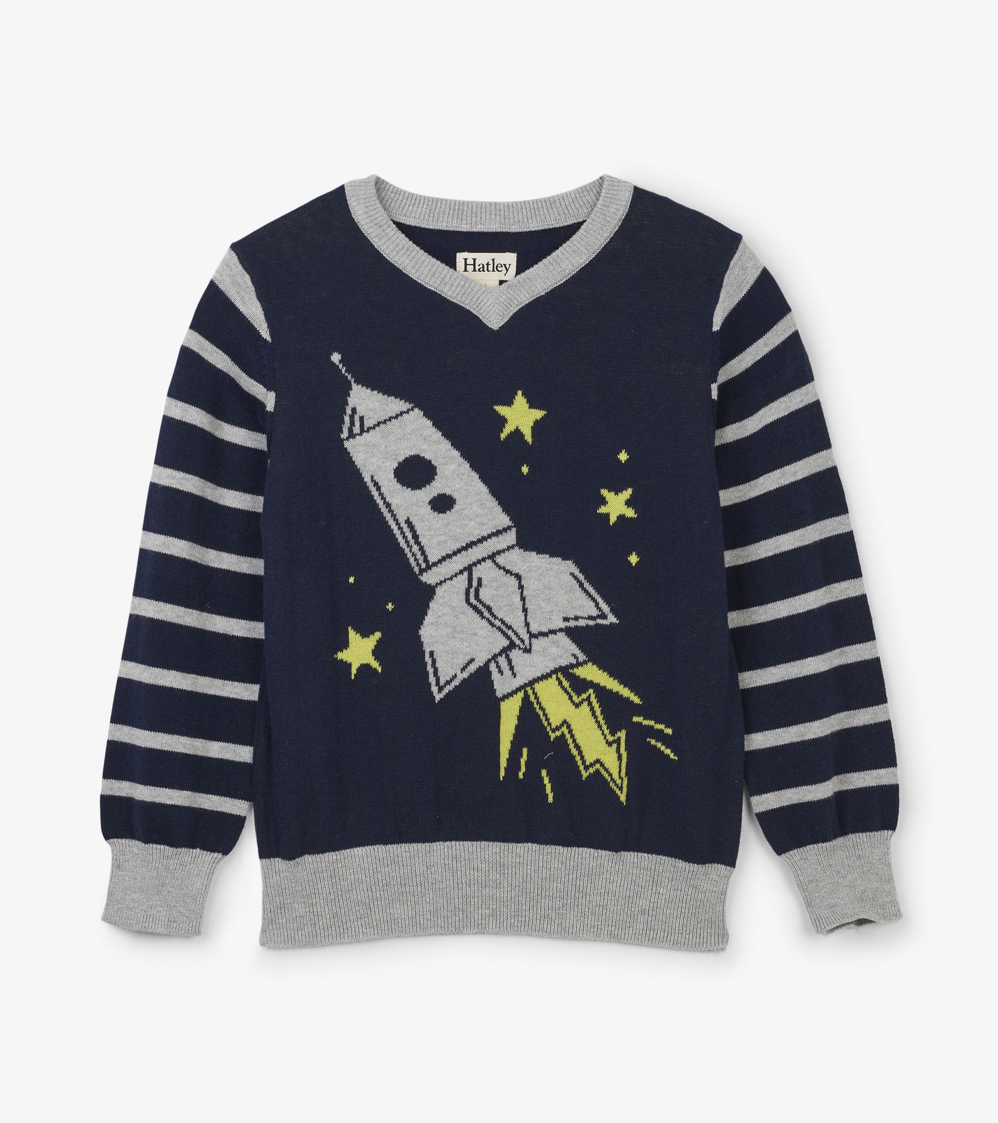 WAS £30.00 Hatley Rocket Ship V-Neck Sweater