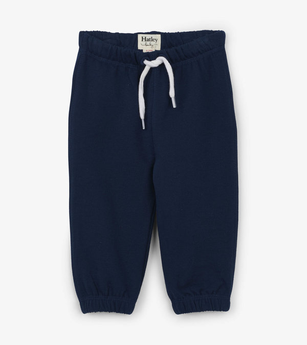 Hatley Navy French Terry Baby Joggers (Was £16)