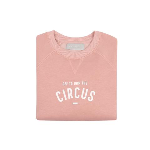 Bob & Blossom 'Off to Join the Circus' Sweatshirt-Faded Blush