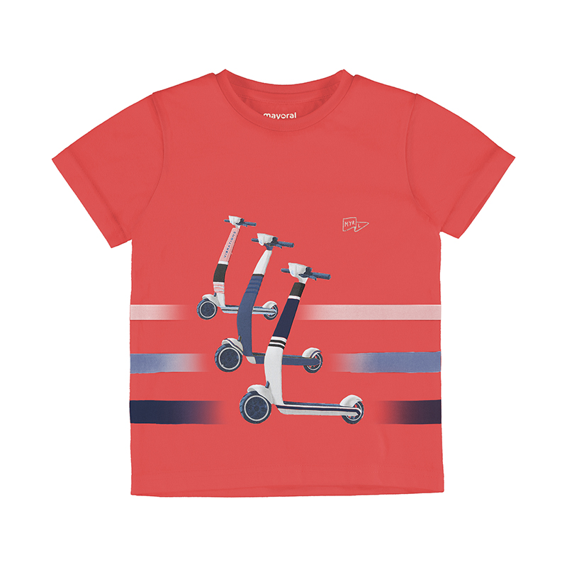 Mayoral Scooter T-Shirt-Cyber Red 3037