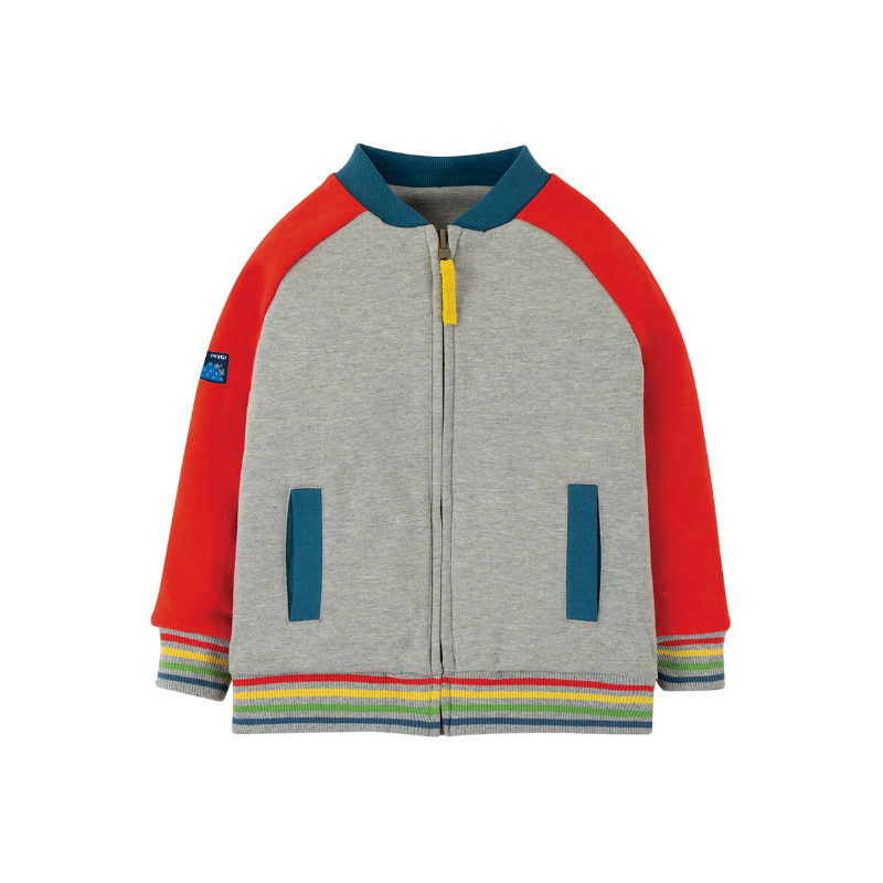 NOW £25.60 Frugi Reese Jacket - Koi Red