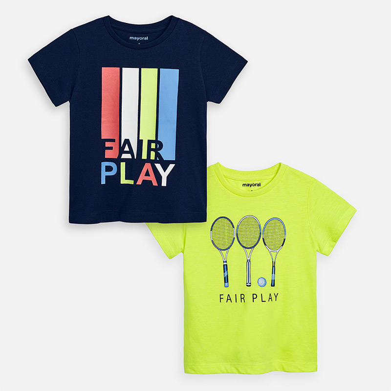 Mayoral Set of 2 T-shirt With Fair Play Design  (3054)