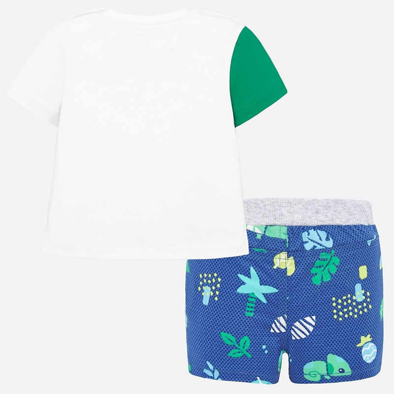 NOW £16 Mayoral T-Shirt & Shorts Set Blue (1278)(was £32)