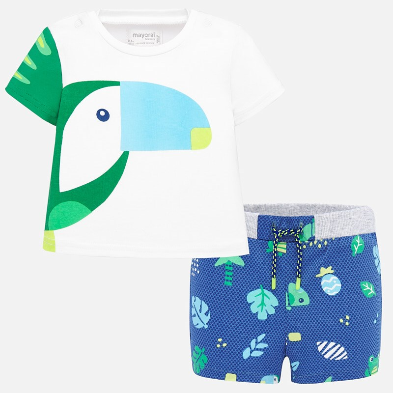 Mayoral T-Shirt & Shorts Set Blue (1278)