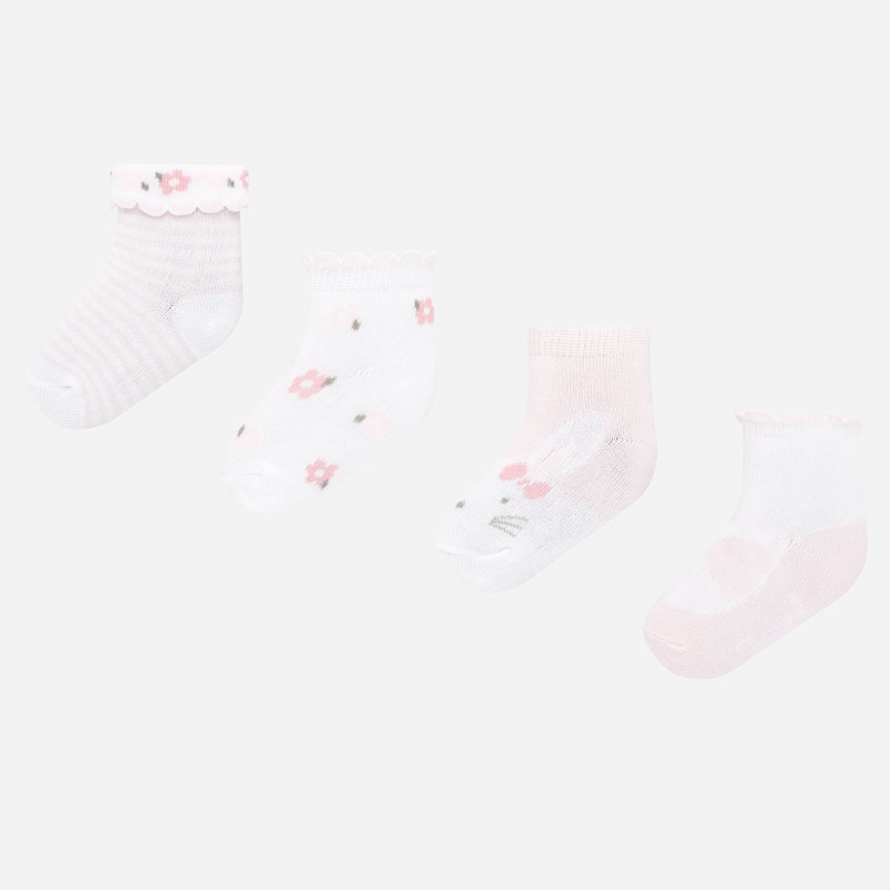 Mayoral 4pc Sock Set Baby Pink (9245)