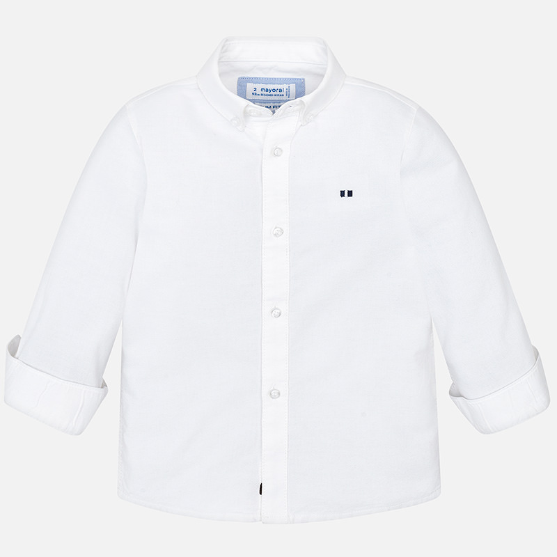 WAS £19.50 Mayoral Oxford Shirt White (142)