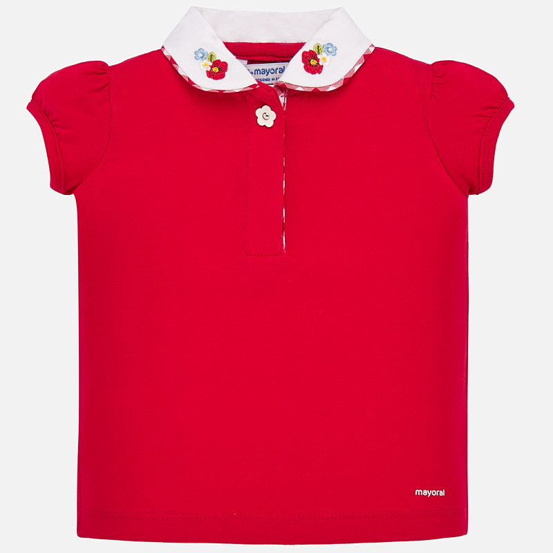 NOW £10 Mayoral Short Sleeve T-Shirt With Collar Red (1167)