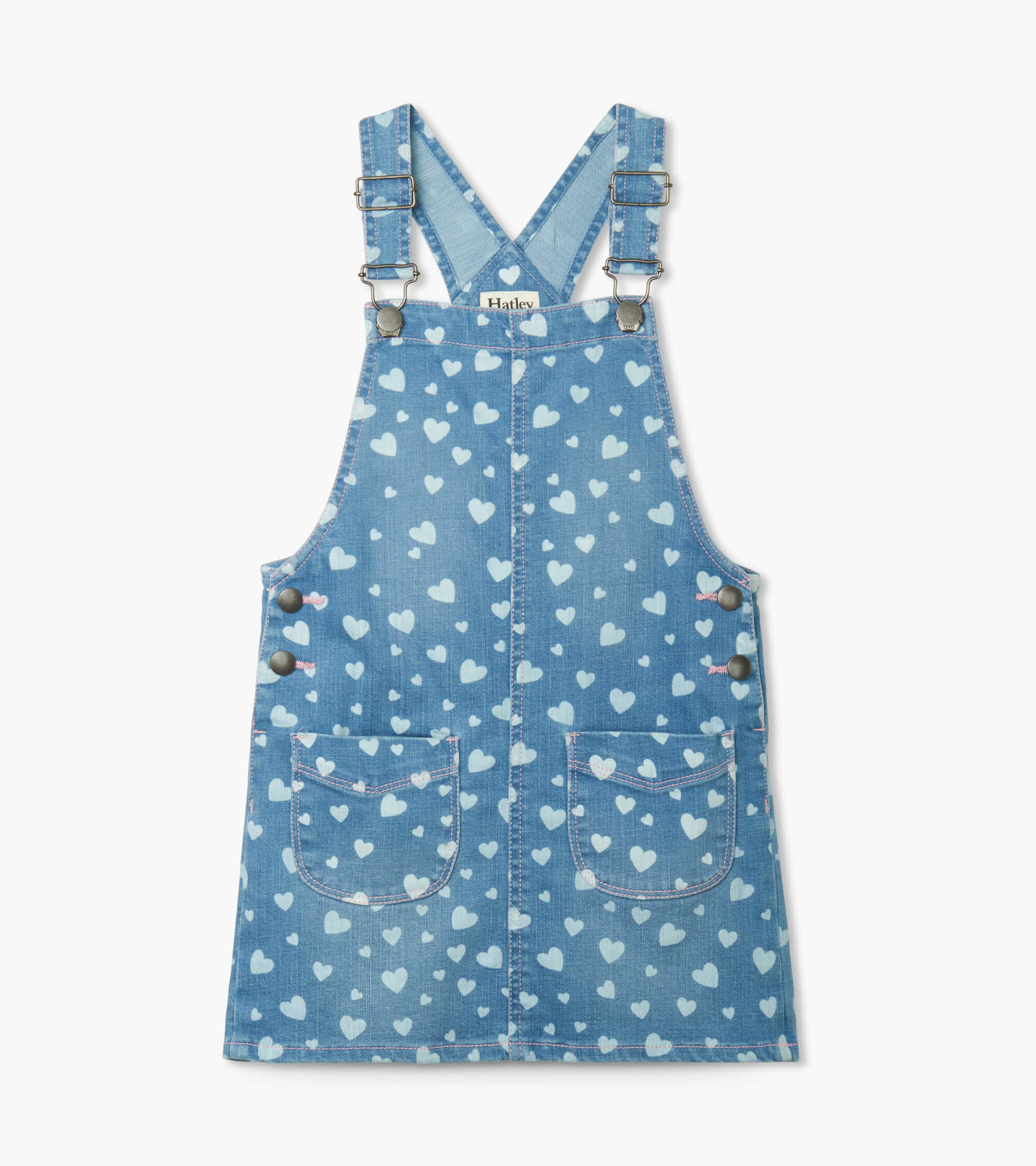 SALE £27.20 Hatley Heart Cluster Denim Pinafore (was £34.00)