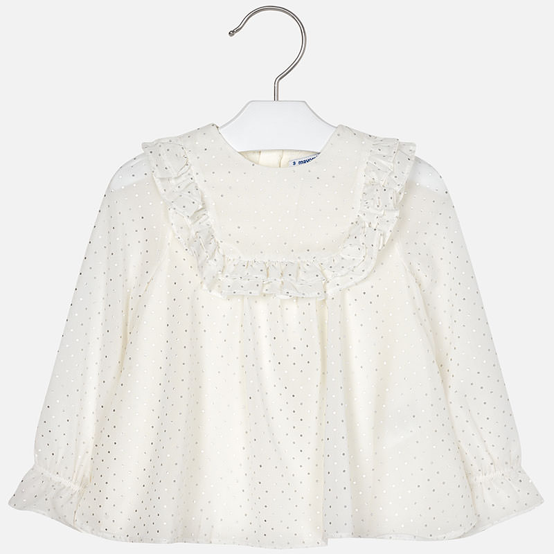 NOW £17 Mayoral Chiffon Blouse Ivory (4103) (Was £34)