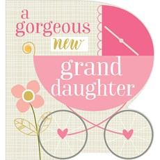 Think Of Me New Granddaughter Card