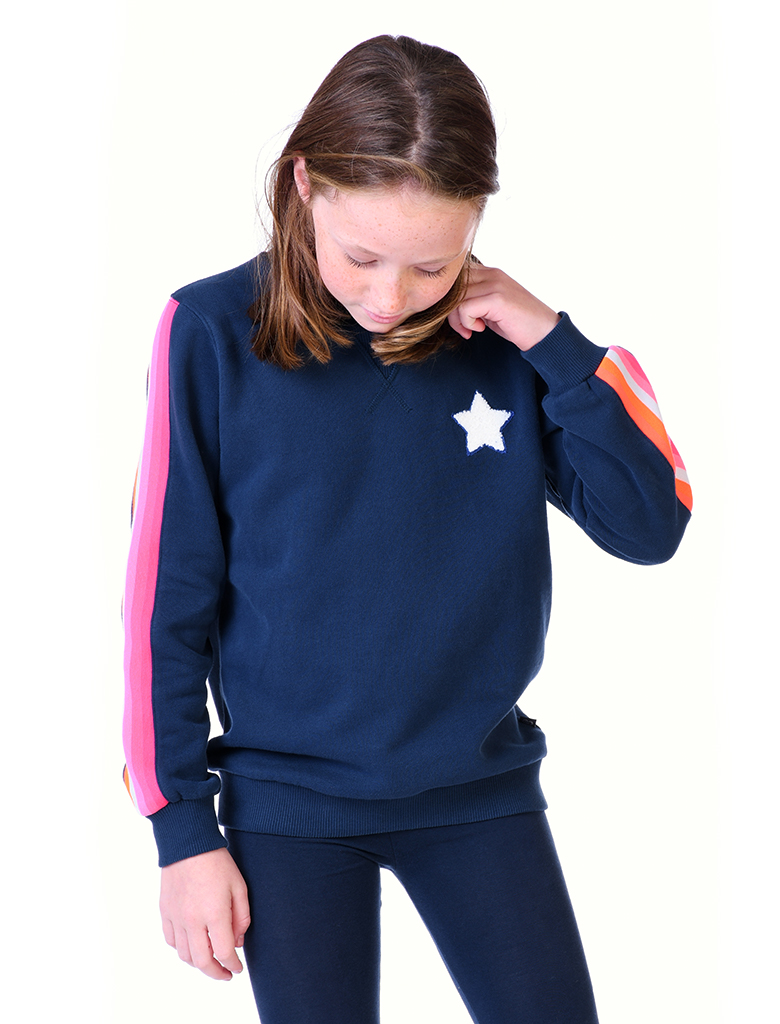 St Bert's Chenille Star Sweatshirt- Dress Blue