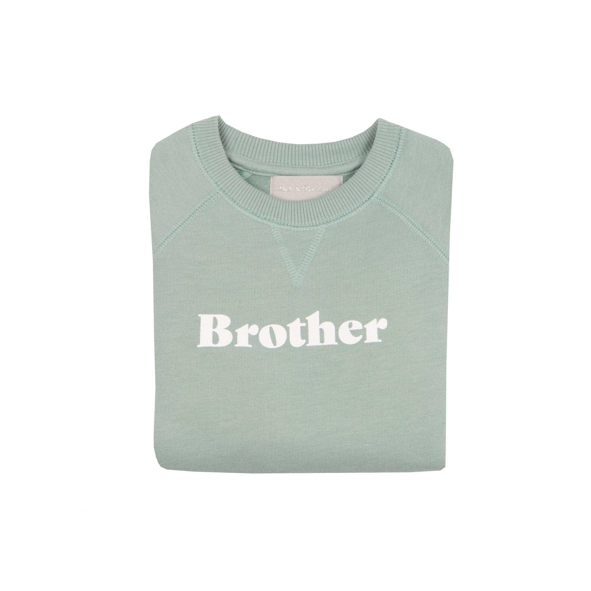 Bob & Blossom 'Brother' Sweatshirt - Sage