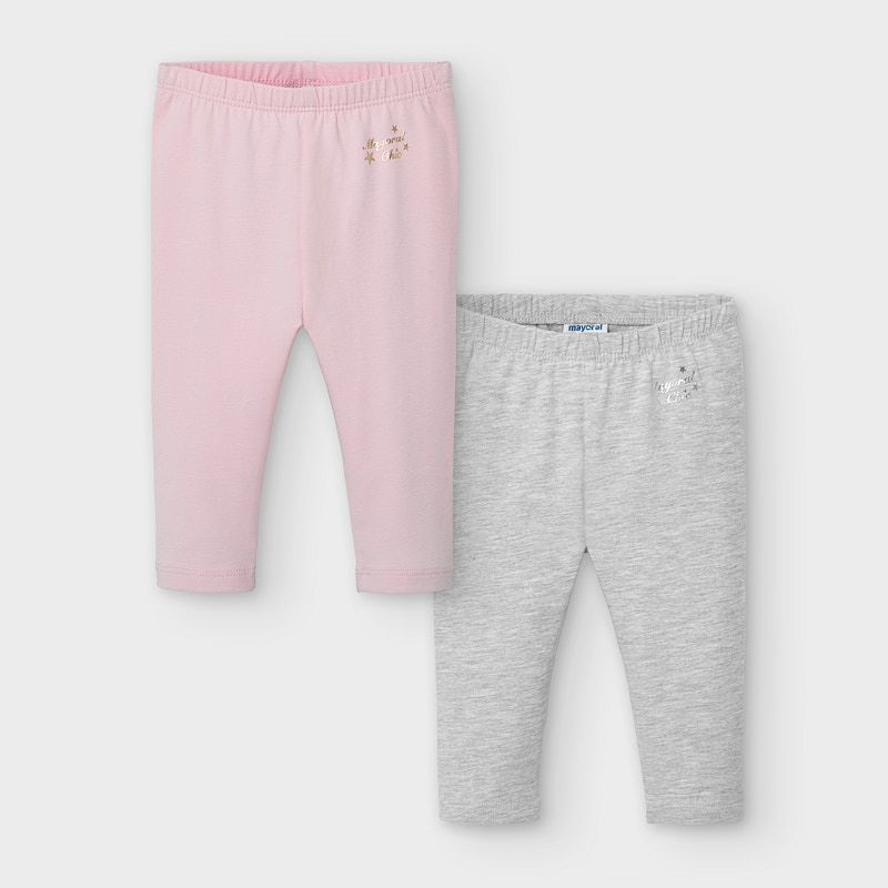 Mayoral Leggings Set-Pink & Grey (702)