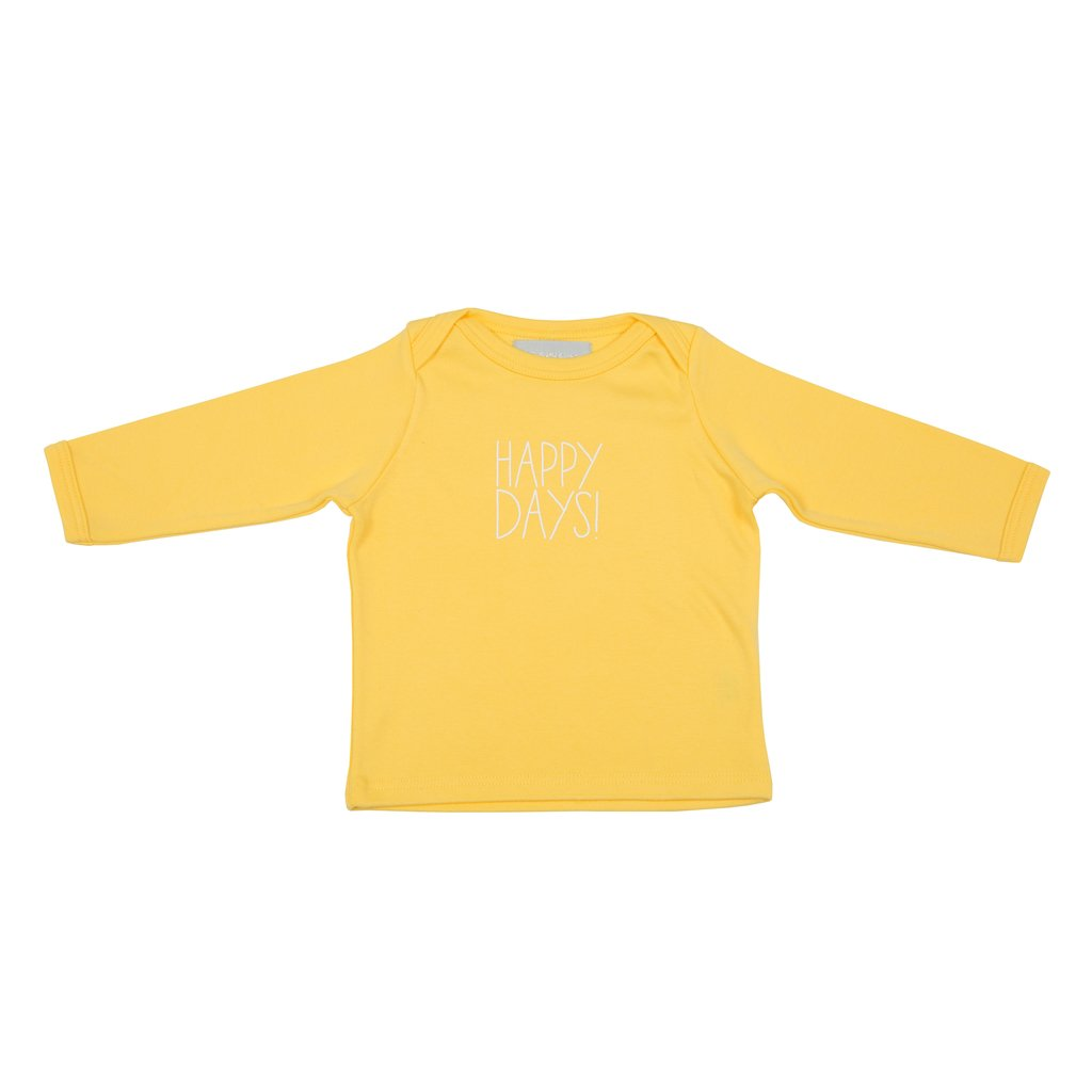 Bob & Blossom 'Happy Days' Baby T Shirt - Yellow