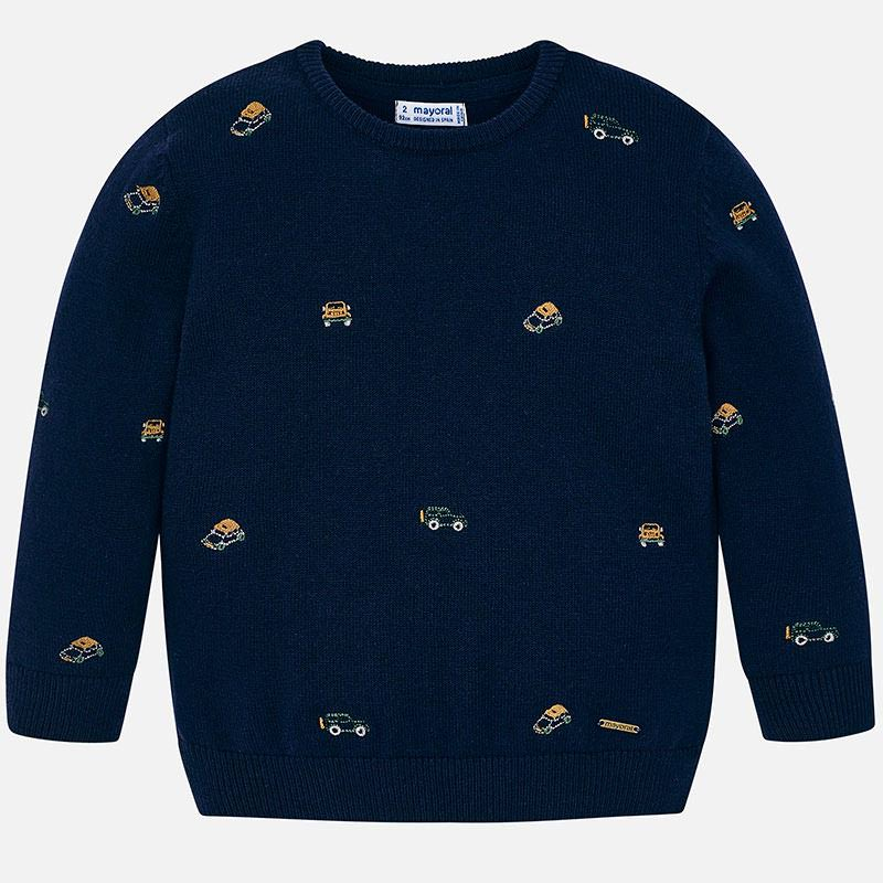 WAS £28.00 Mayoral Vehicle Embroidered Sweater Navy (4316)