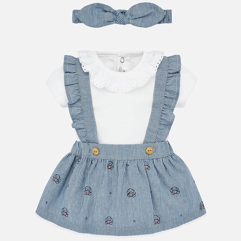 Mayoral Skirt With Braces Set Denim (1863)