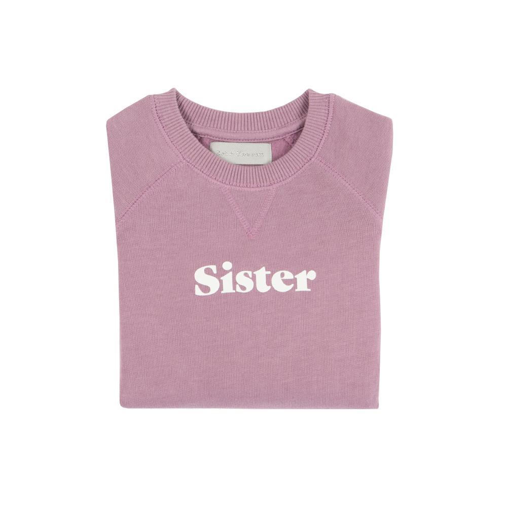 Bob & Blossom 'Sister' Sweatshirt - Violet