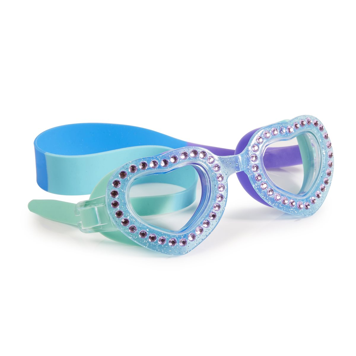 Bling 2o Swimming Goggles Je T'aime Mint Blue