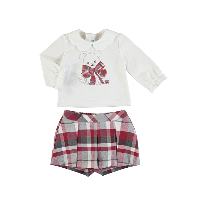 Mayoral Top & Plaid Shorts Set (2220) (was £33)