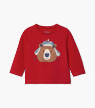 Hatley Cosy Bear Long Sleeve Baby Top