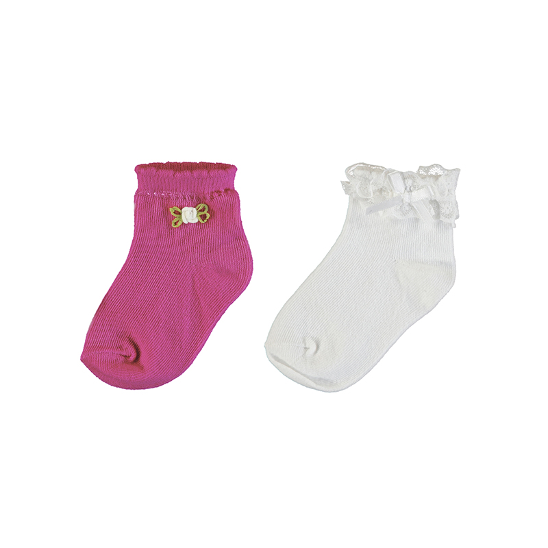 NOW £5 Mayoral Sock Set Pink/White (10738)(was £10)
