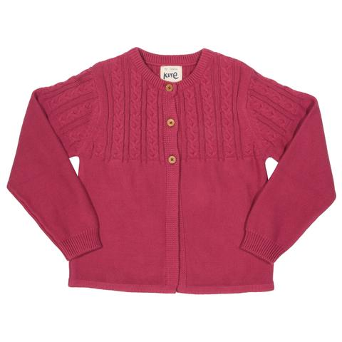NOW £15 Kite Pink Cable Cardigan (Was £30)