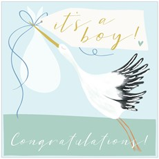 Think of Me It's a girl/boy Stork Card