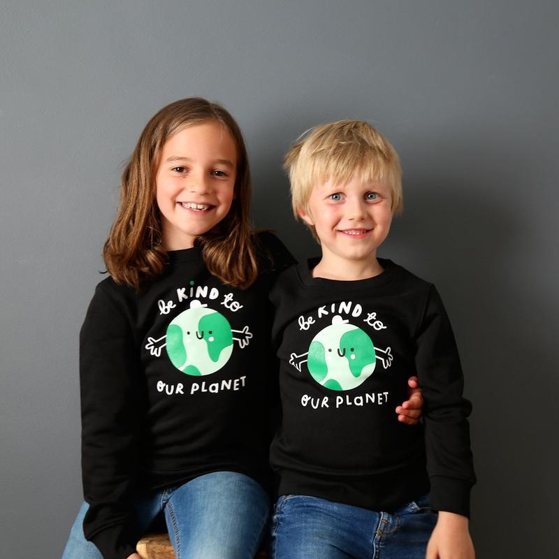Kindness Co-Op Earth Sweatshirt Black