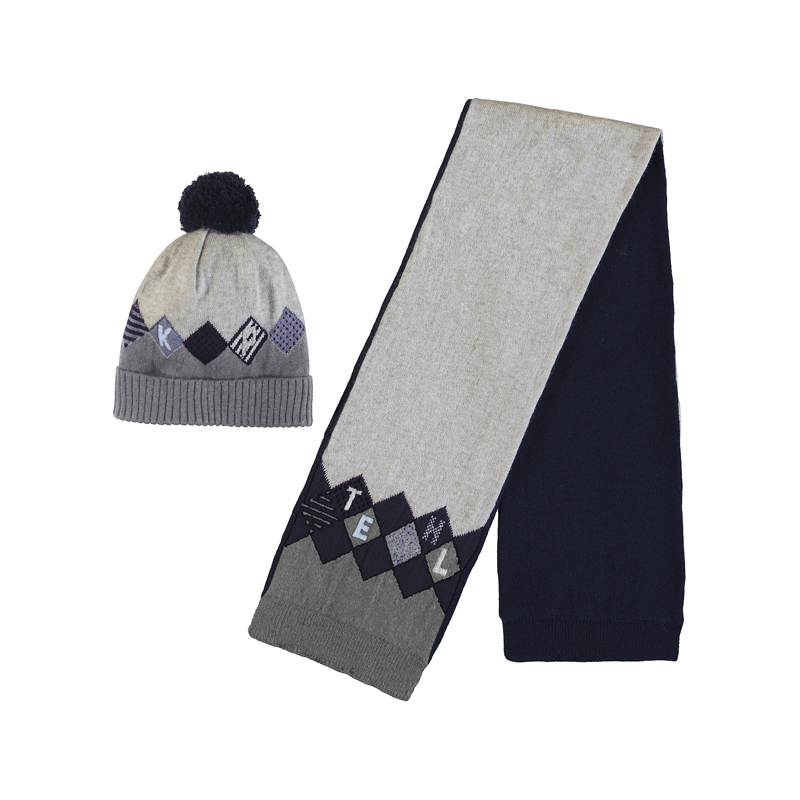 Mayoral Hat & Scarf Set Blue (10840)