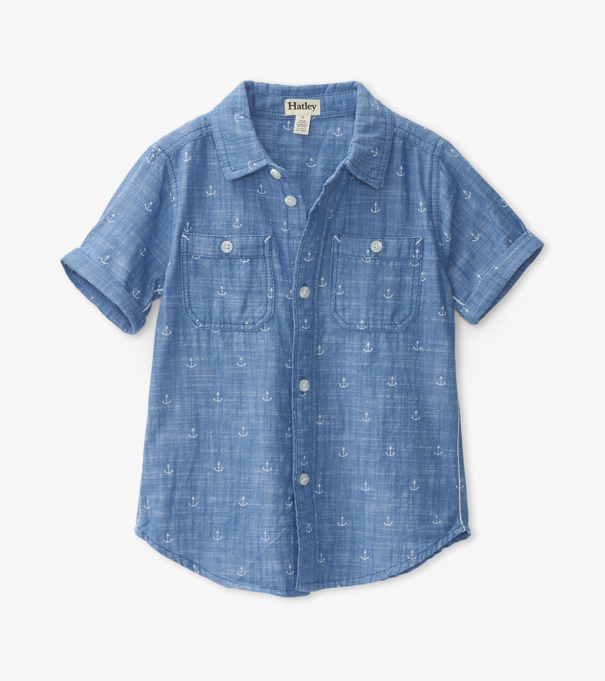 NOW £18 Hatley Chambray Anchors Shirt