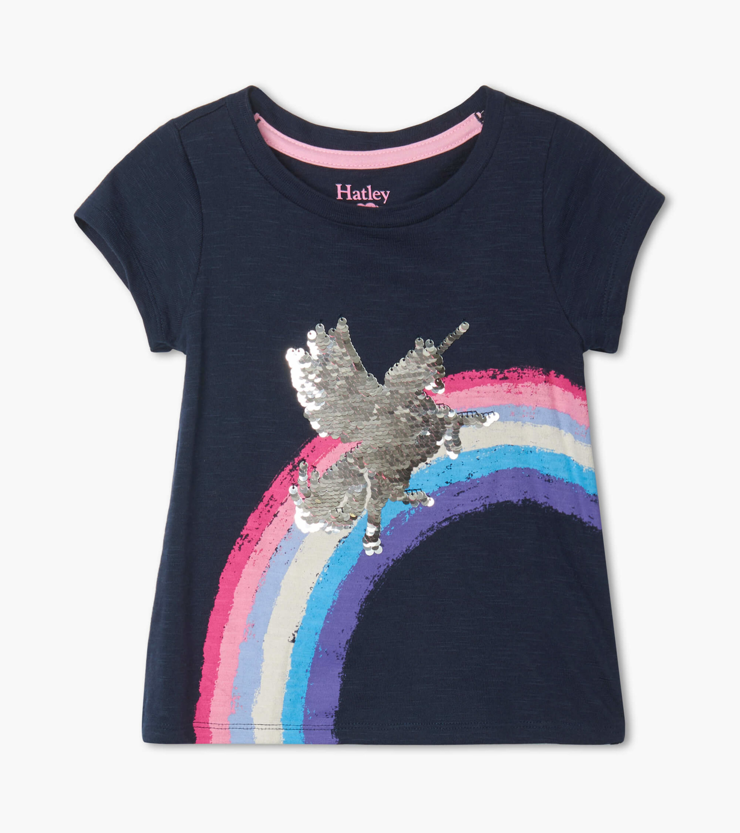 Hatley Shimmer Unicorn Flip Sequin Top