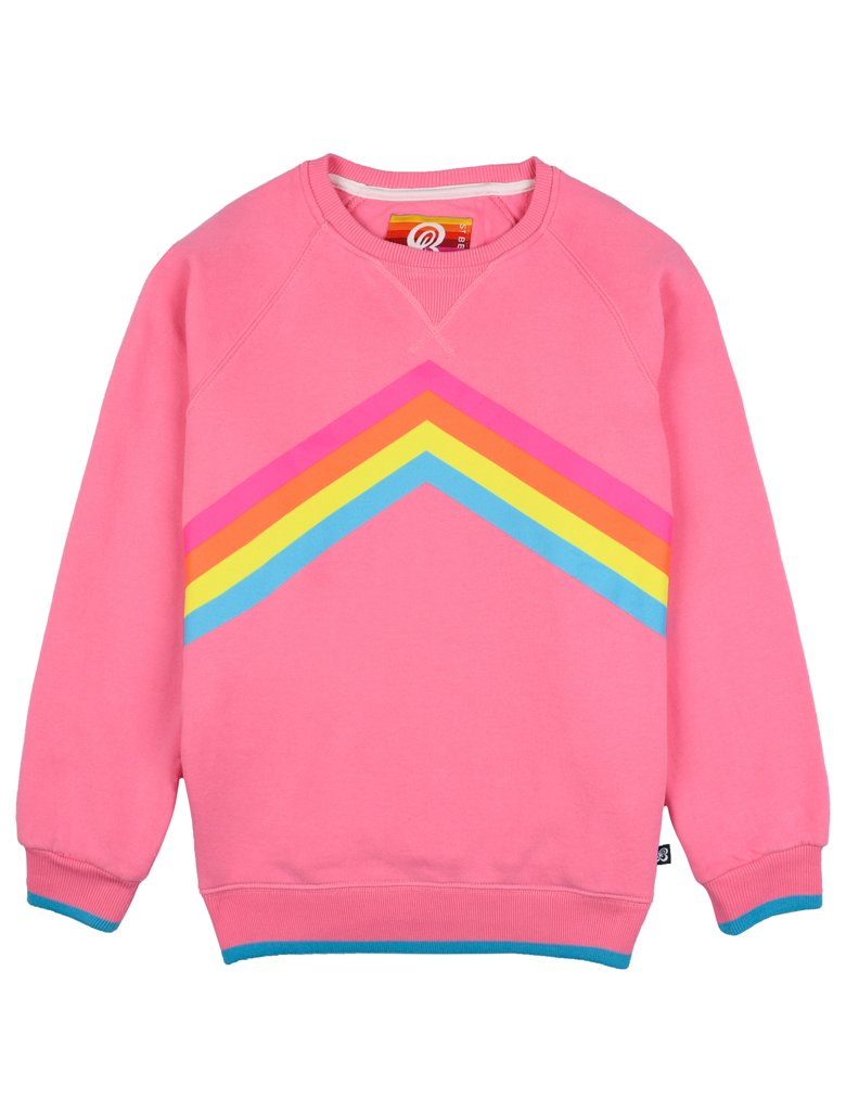 St Bert's Rainbow Sweatshirt - Sachet Pink
