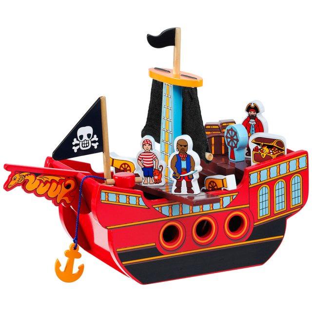 Lanka Kade Fair Trade Wooden Pirate Ship