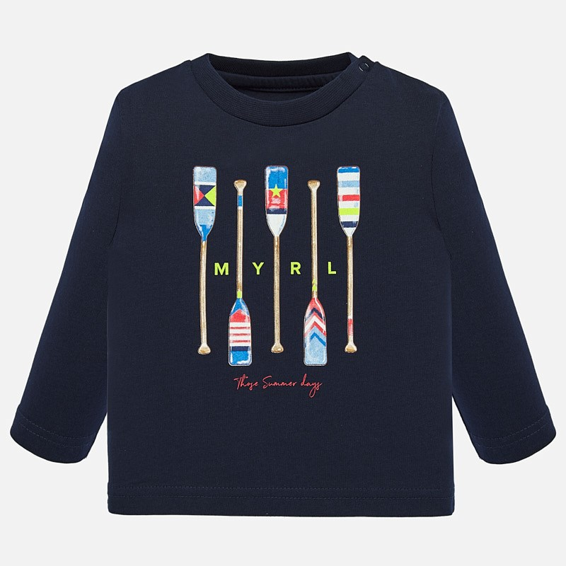 Mayoral Long Sleeve Top With Oars Print Navy (1055)