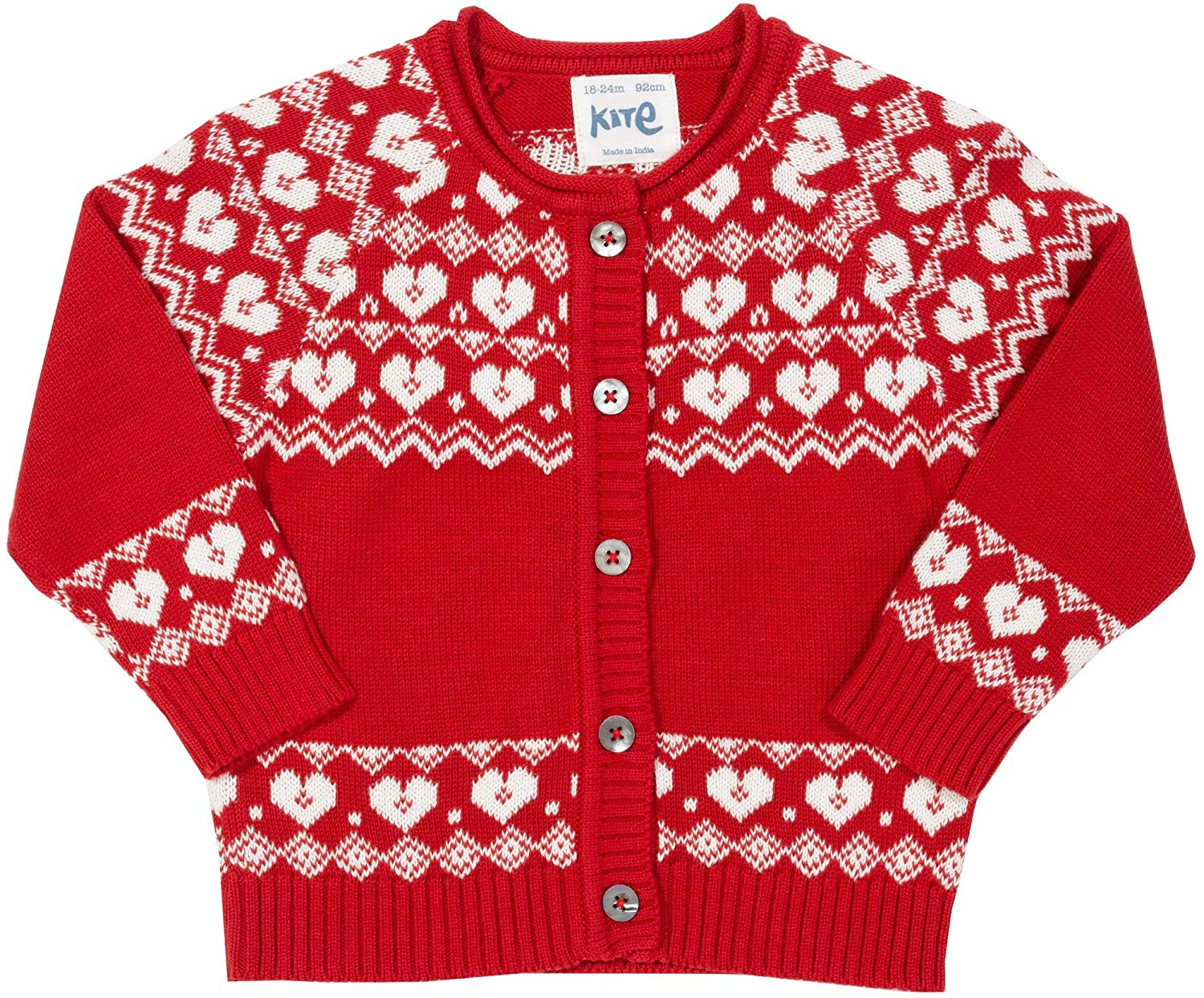 NOW £14.50 Kite Nordic Heart Cardigan (Was £29)