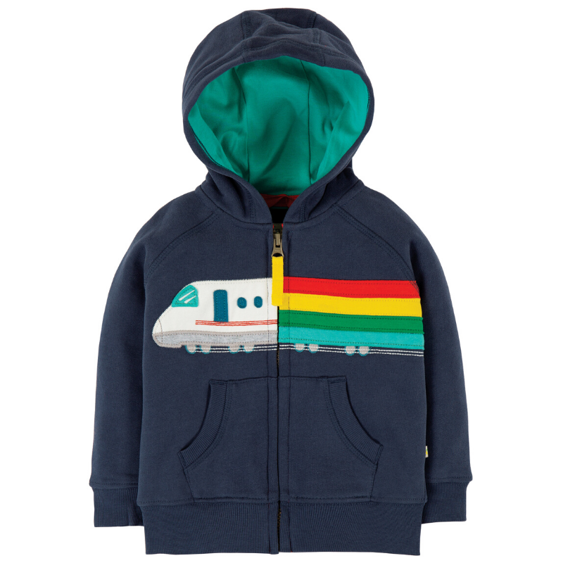 NOW £26.40 Frugi Hayle Hoody - Indigo/Train