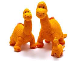 Best Years Orange Diplodocus Toy