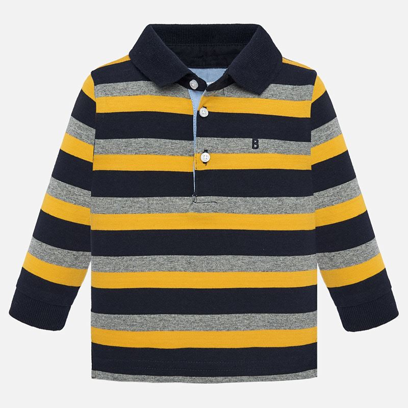 NOW £10 L/s stripes polo (2105) (Was £21)