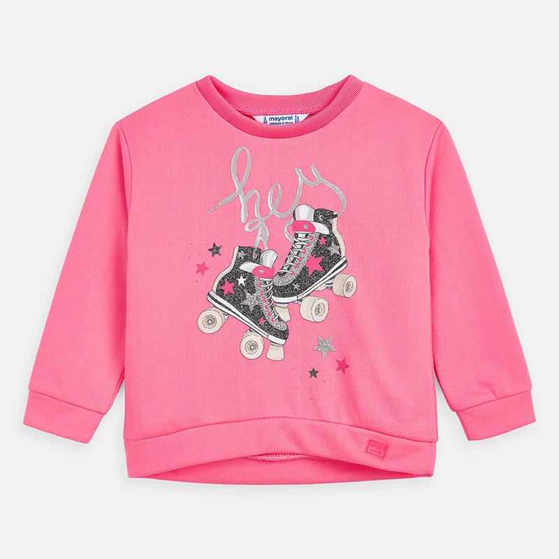 Mayoral Sweatshirt With Roller-Skates Pattern Bubblegum Pink (3462)