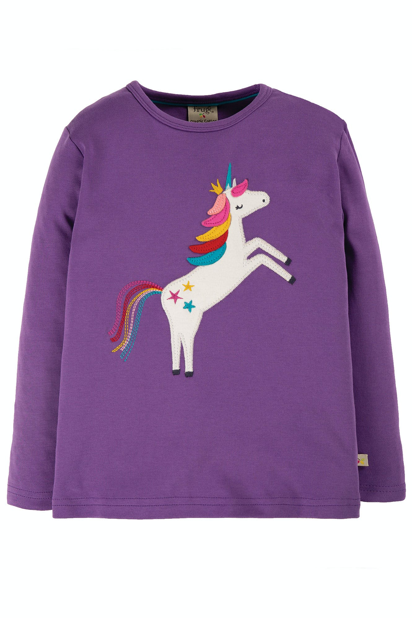 SALE £17.60 Frugi Discovery Applique Top - Thistle (Was £22)