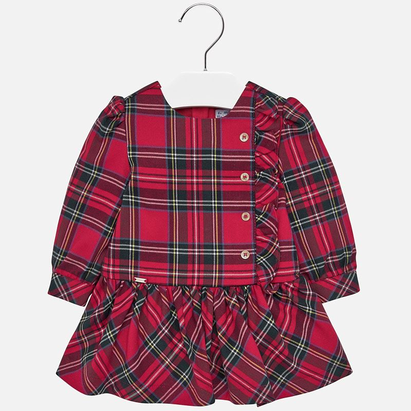 WAS £34.00 Mayoral Plaid Dress Red (2926)