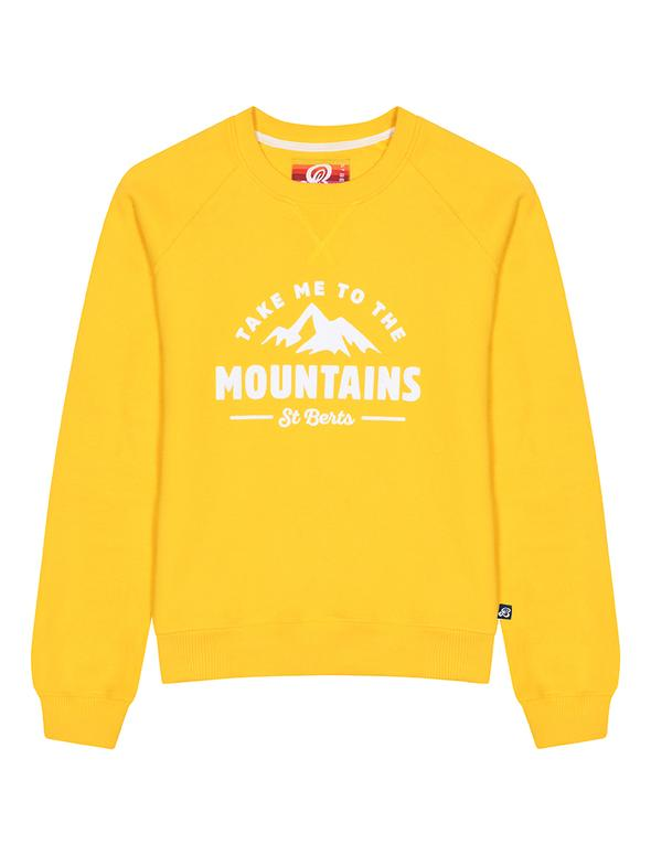 St Bert's Mountains Sweatshirt - Yellow