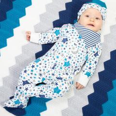 Kite Starry Night Sleepsuit & Bib (Was £27)