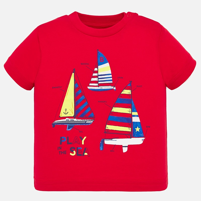 Mayoral T-Shirt With Sailing Print Red (1045)