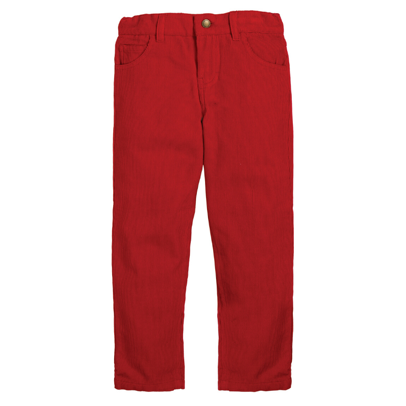 NOW £15 Frugi Callum Slim Cords - Tango Red (Was £30)