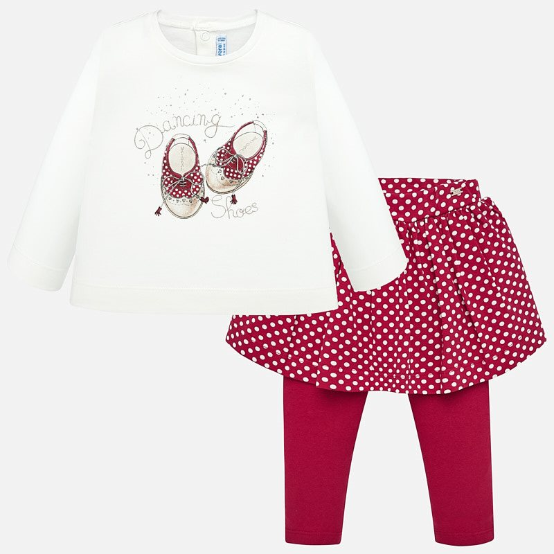 WAS £29.00 Mayoral Dancing Shoes Top & Leggings Set Red (2748)