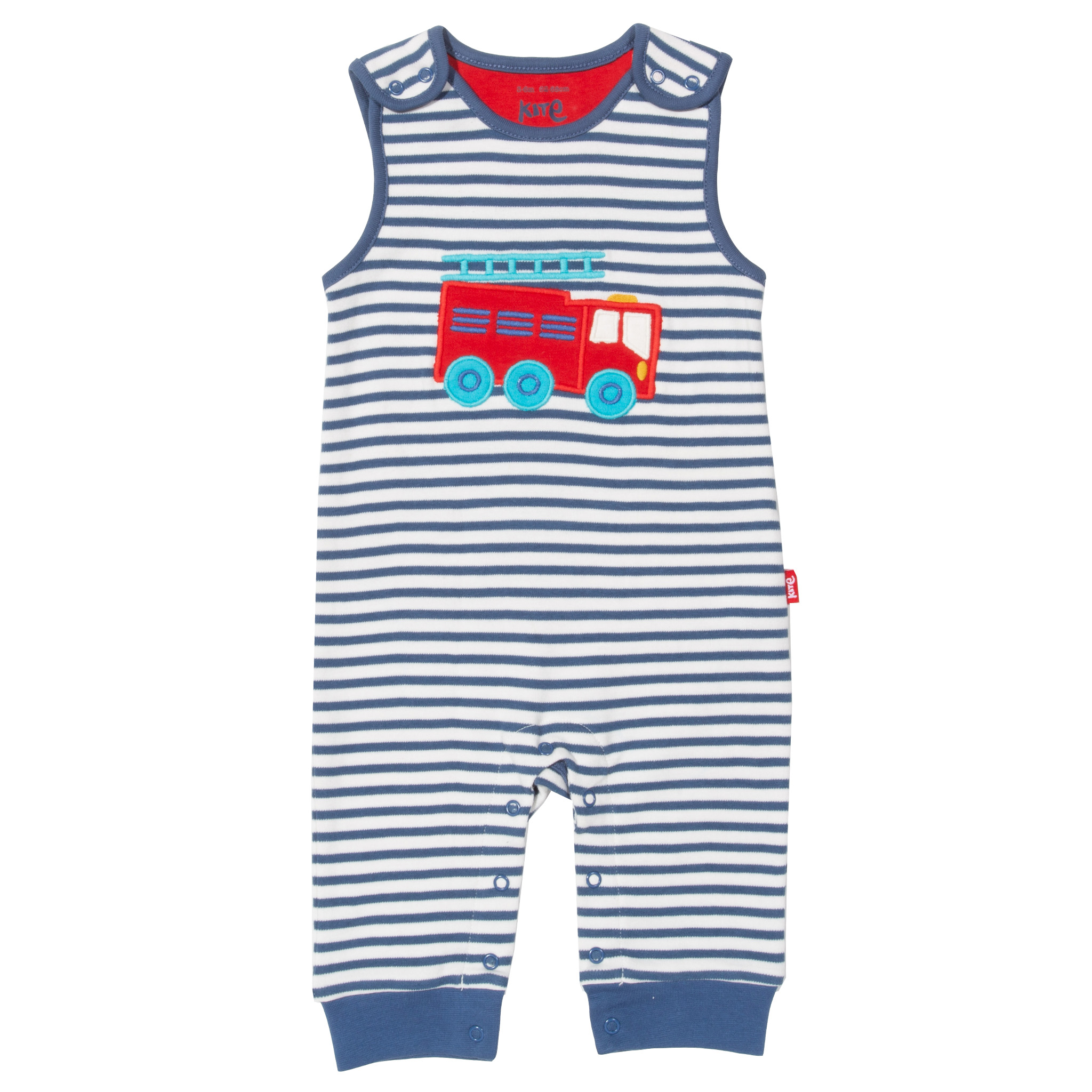 Kite Fire Engine Rescue Dungarees-Navy & Cream