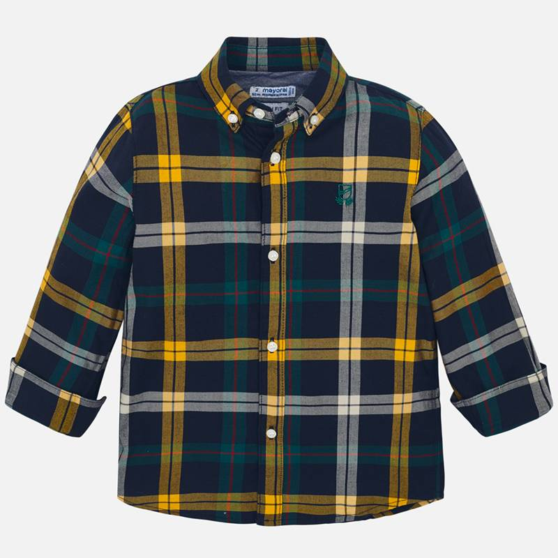 WAS £21.50 Mayoral Checked Shirt Green (4122)