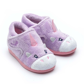 Chipmunks Unicorn Lavender Slippers